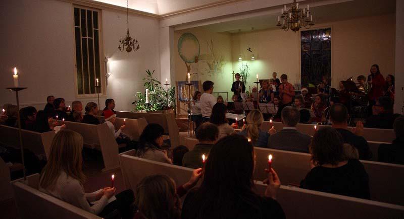 Från en adventskonsert i Österledskyrkan. Foto Roine Wahlin