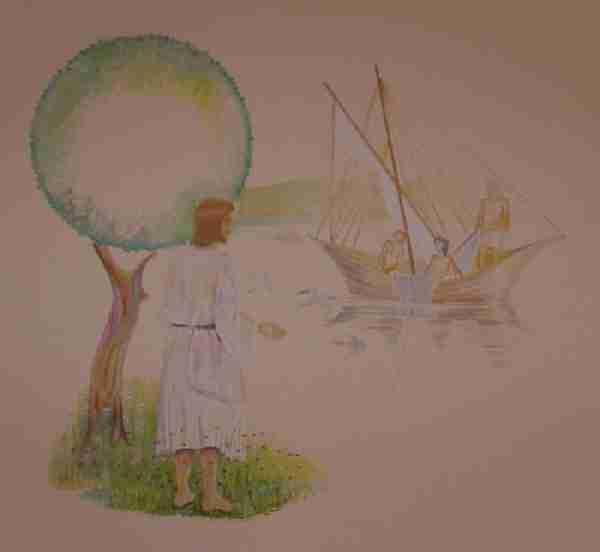 Jesus kallar oss, fondmålningen